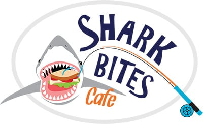 Shark Bites cafe logo