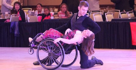Lorie Sparks dancing in a wheelchair