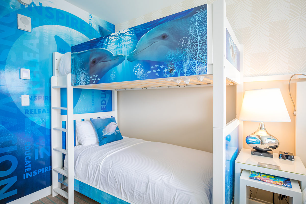 Winter the Dolphin themed hotel room