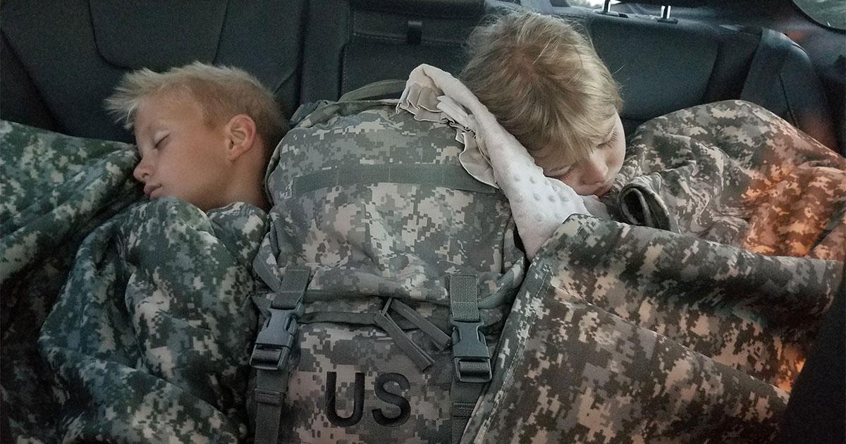 army kids sleeping