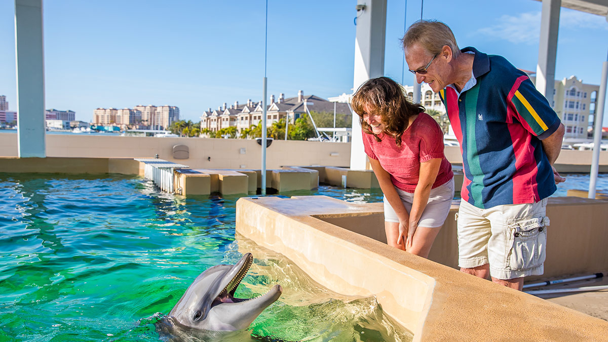 John and Mia with Nicholas the dolphin