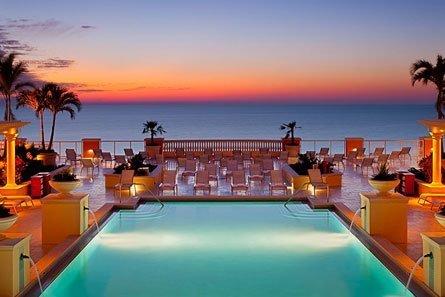 hyappt pool at sunset