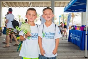 Two boys at Sea Turtle Awareness Day