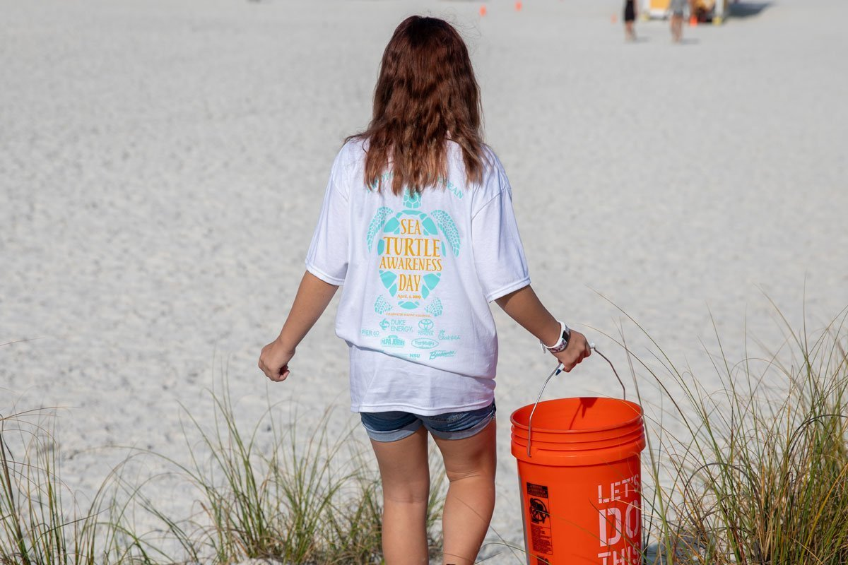 sea turtle awareness day beach cleanup