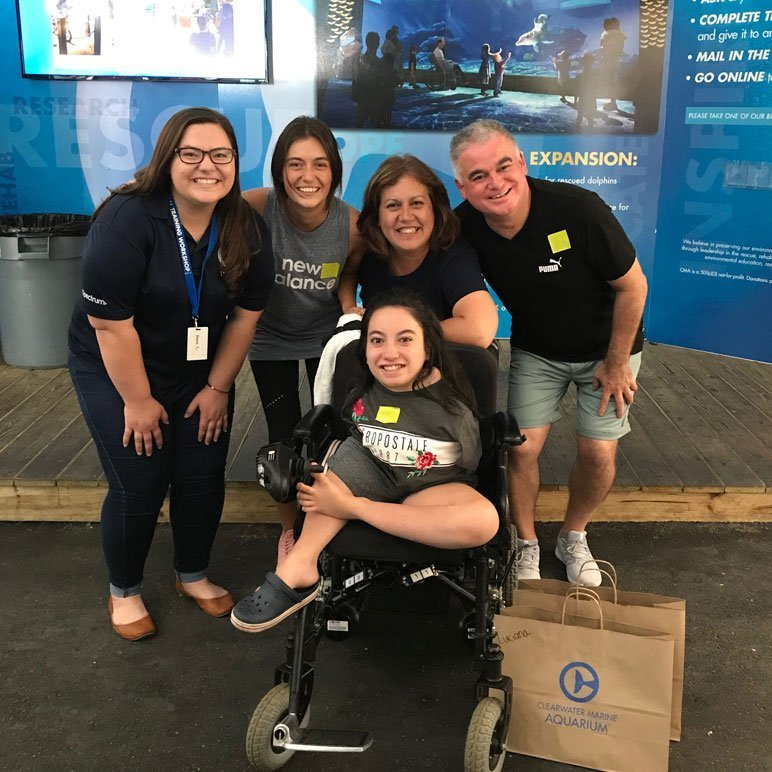 Luciana and her family at Clearwater Marine Aquarium