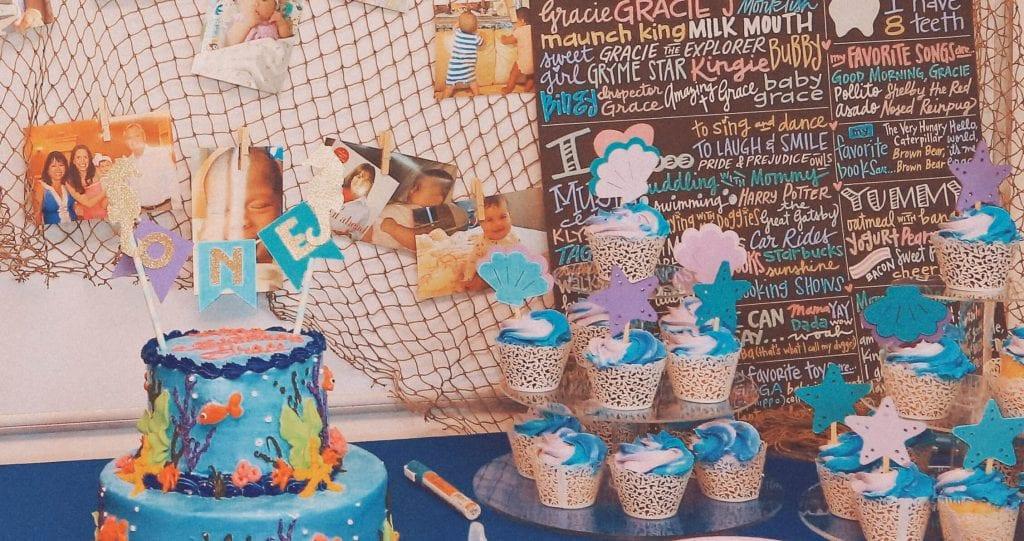 Aquarium Birthday Party Cake