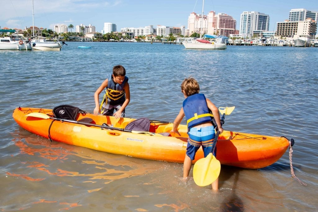 Clearwater Marine Aquarium Summer Camp Kids Kayaking