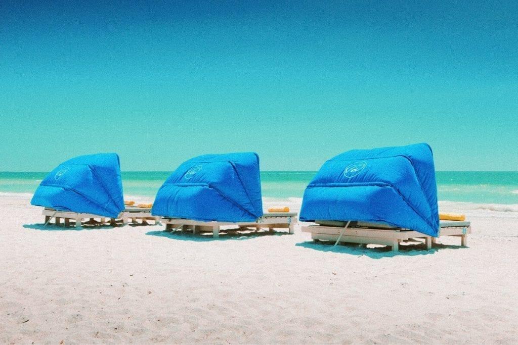 Tradewinds Beach Hotel Cabanas on the Beach