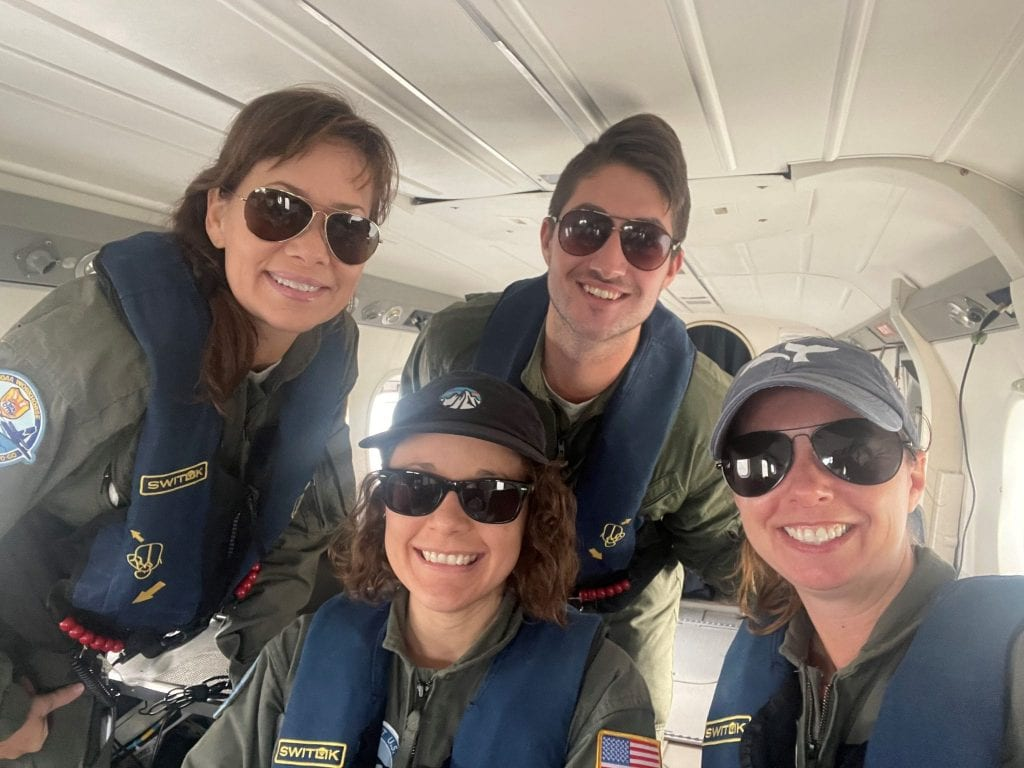 Right whale aerial survey crew